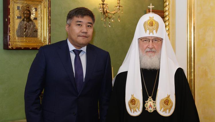 Дархан Калетаев встретился с Патриархом Московским и всея Руси Кириллом