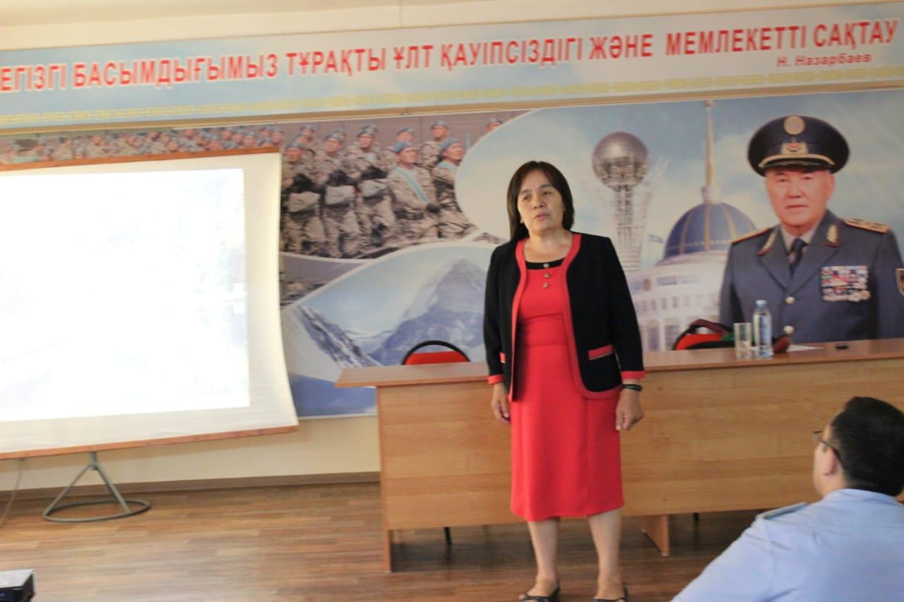 Прошла лекция в Департаменте по делам  обороны г. Алматы